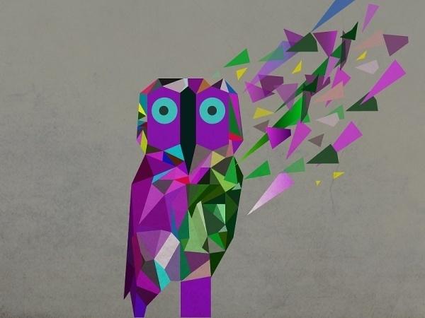 (ILLUSTRATOR PROJECTÂ ) #pi #owl #particals #grea #purple #rodrigues #piedade #production