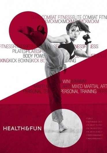 Francesco Vetica | Designer | Healt & Fun #gym #minimal #poster #fitness #modernism #healt #typography