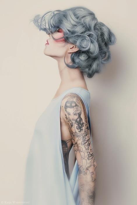 Pastel Hair #hair #tattoo #ink #fashion