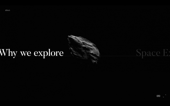 Space.io - Mindsparkle Mag - Space.io is a not-so-conventional about space exploration by Nicolas Lanthemann whose website is awarded as sit