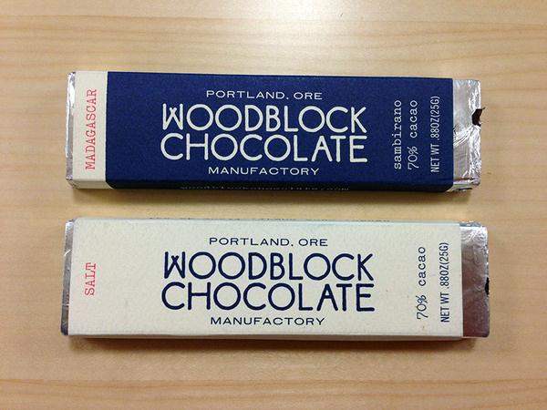 Woodblock Chocolate Handmade in Portland