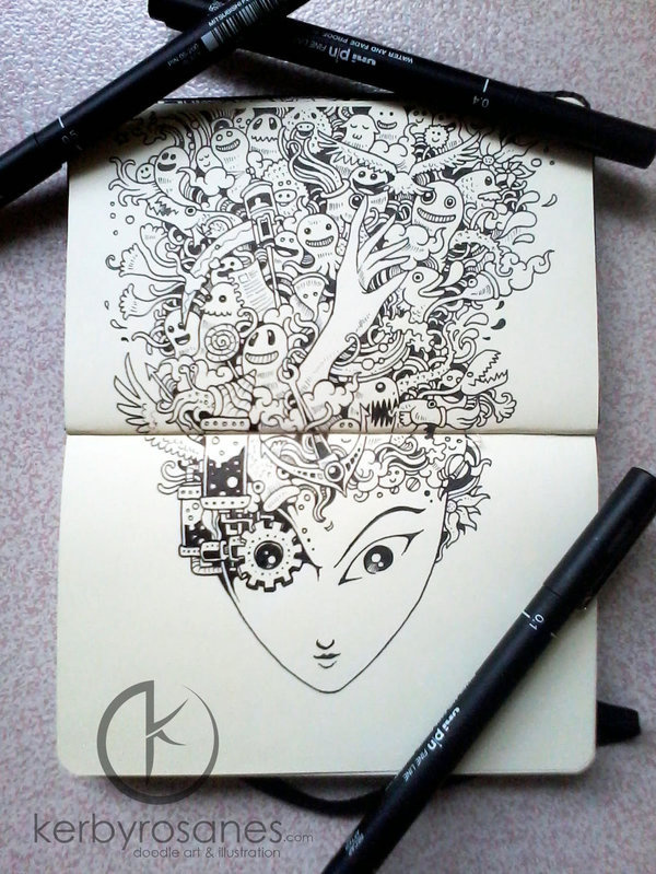 MOLESKINE DOODLES My Fair Lady By Kerbyrosanes On DeviantART Doodle Ink
