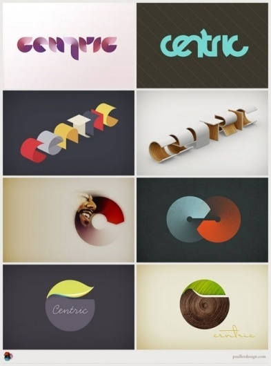 Graphic/Logo Design Inspiration Different logo... | WE AND THE COLOR - A Blog for Graphic Design and Art Inspiration #paul #lee #identity #logo #centric