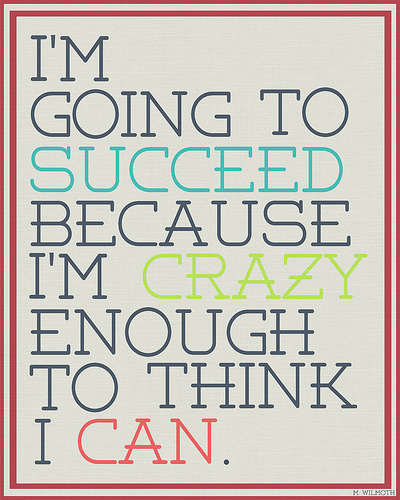 Success #succeed #crazy #determined #typography