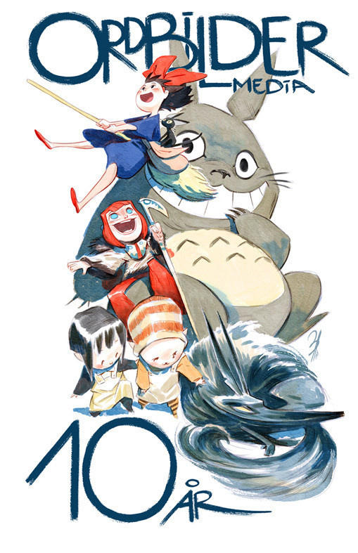 (ca-tsuka: Comic book / animation artist Enrique...) #ghibli #illustration #poster #totoro #art #painting #drawing