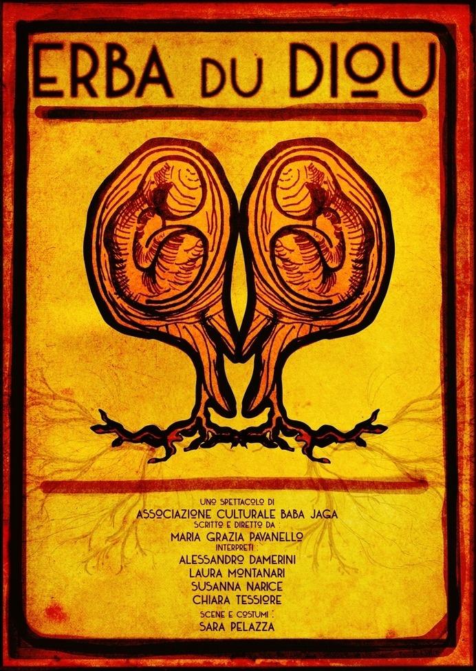 Filippo Fanciotti graphic design for Erba du Diou theater play . #erba #teatro #theater #theatre #filippo #design #graphic #devil #fanciotti #poster #diou #du