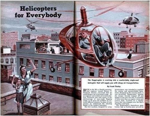 Vintage Future #helicopter #transport #future #vintage