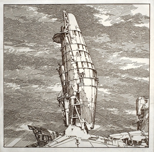 Architecture Photography: Lebbeus Woods: Early Drawings on Exhibit in NYC Geomechanical Machines / Lebbeus Woods – ArchDaily #woods #architecture #lebbeus