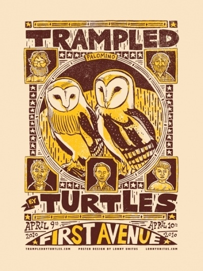 GigPosters.com - Trampled By Turtles #gigposter #screenprint #poster #band