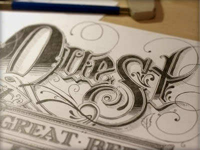 quest.jpg (400×300) #drawn #ornate #hand #typography
