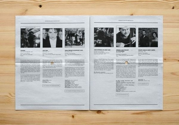 Festival de Jazz de Girona -Enserio #newspaper #brochure
