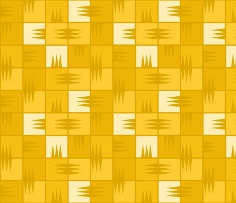 Day Full of Promise by penina, click to purchase fabric #fabric #yellow #pattern