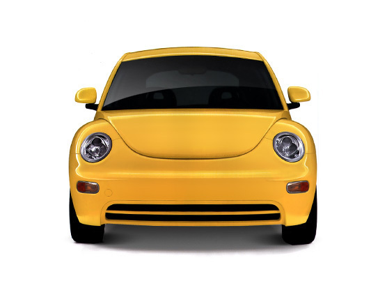 Wolksvagen beetle yellow #white #isolated #yellow #emotional #rounded #car