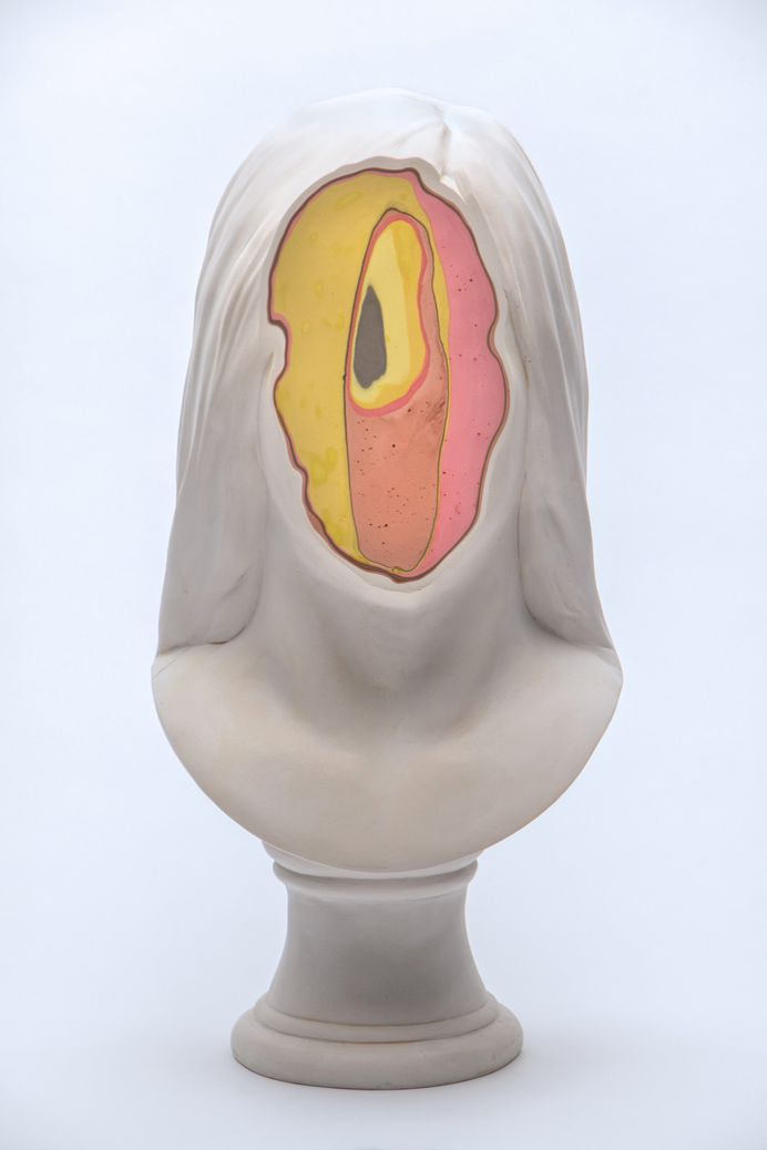 Colorfully Eroded Busts Explore Abstract Perceptions of Interiority by Christina West   Colossal