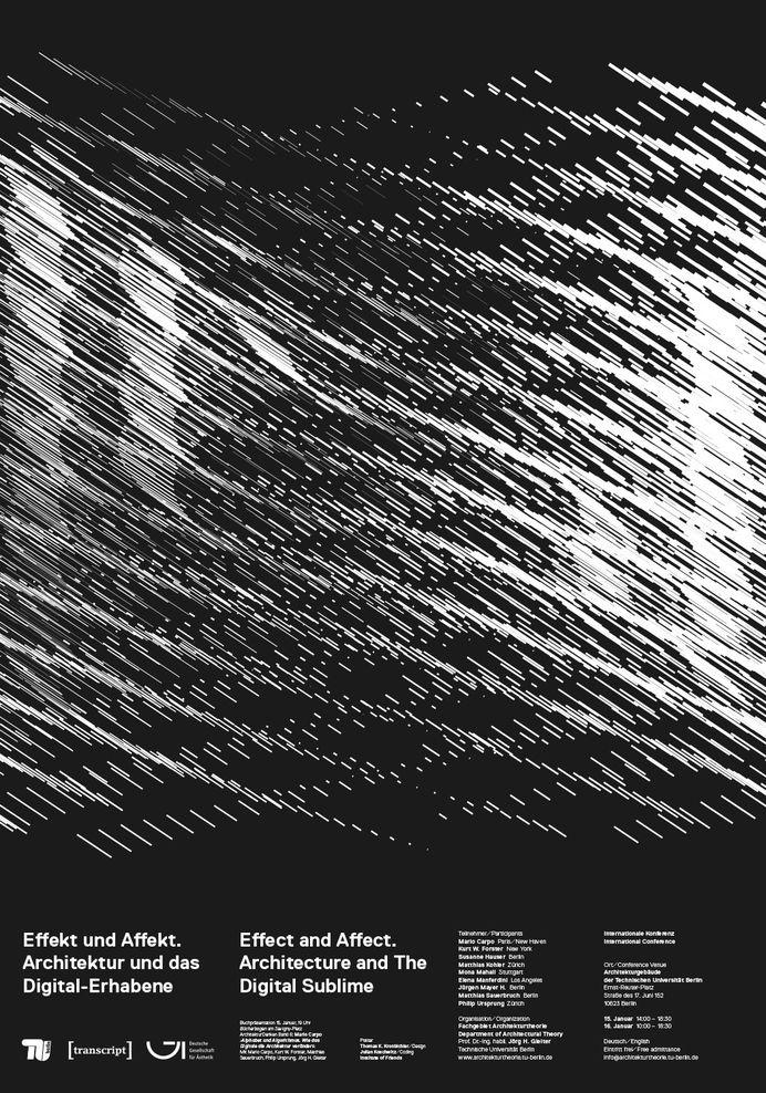"""thomaskronbichler: """"Architecture and The Digital Sublime. Poster for Event at Technische Universität Berlin. Design: Mut, Thomas Kronbichler (design), Julian Koschwitz (coding) """""""