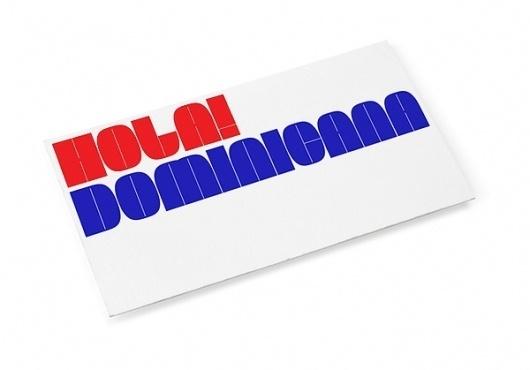 Hola! Dominicana ID on the Behance Network #republic #branding #dominicana #design #graphic #hola #burocrata #logo