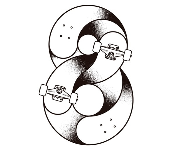 Sergi Delgado / Lettering & illustration #illustration #typography #sakate #skateboard