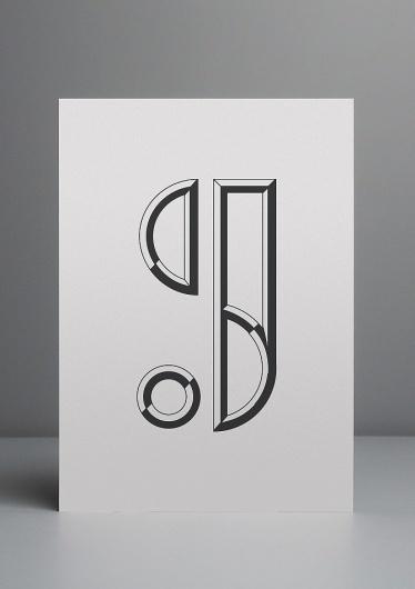 S&J Monogram - DCL #white #black #monogram #com #derrickclee