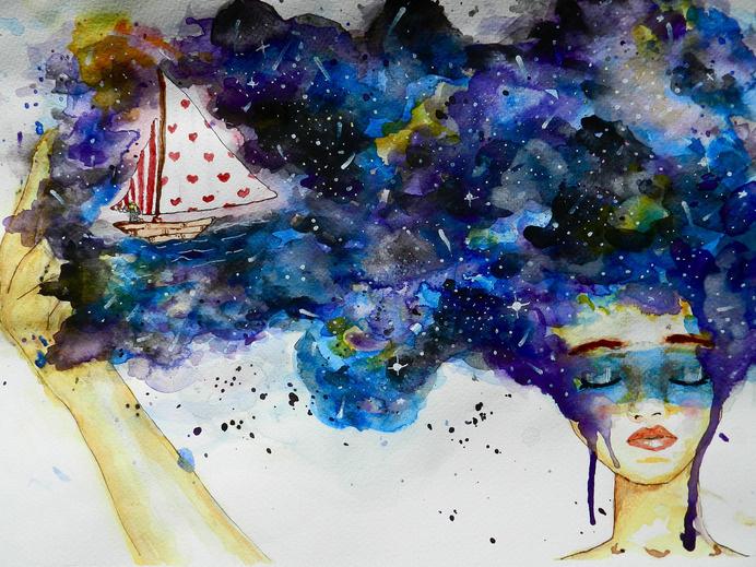 Marinero de Sueños #watercolor #illustration
