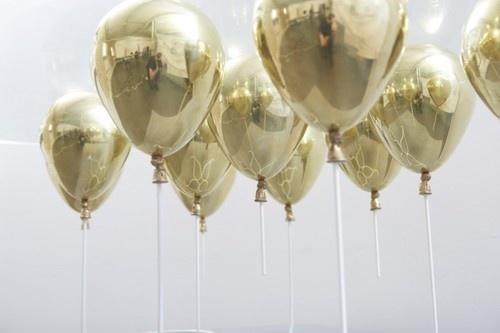 ballons, gold #gold #ballon