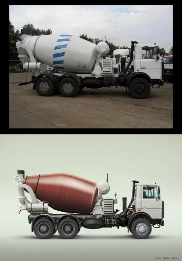 Dribbble - truck-from-studio38.jpg by Studio38.ru #truck #photo #illustration #realistic #cement