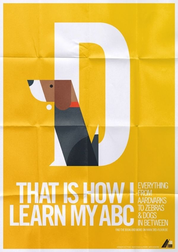 Animal Alphabet by Bart De Keyzer #icon #print #geometric #picto #poster #animal