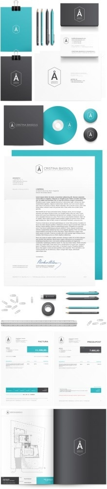 Cristina Bassols on the Behance Network #scheme #simplicity #brand #color