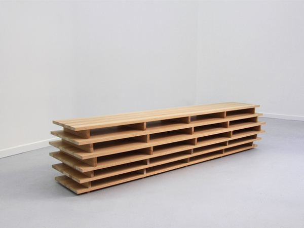 Bookcase by Aïssa Logerot #bookcase #minimal #design #bookshelf