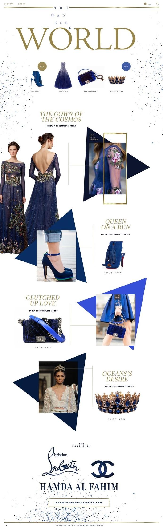 #design #layout #fashion #website #graphic #blue