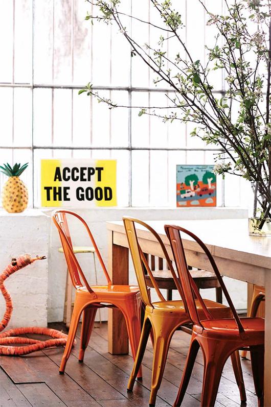 at home with saskia folk / sfgirlbybay #interior #tolix #chair #design #decor #deco #decoration