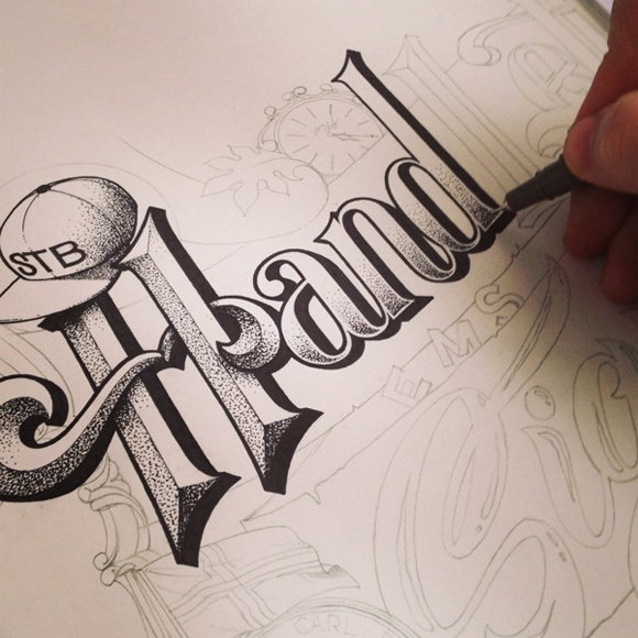 20 Amazing Examples of Typography Sketches for Your Inspiration #letter #illustration #art #hand #sketch #typography
