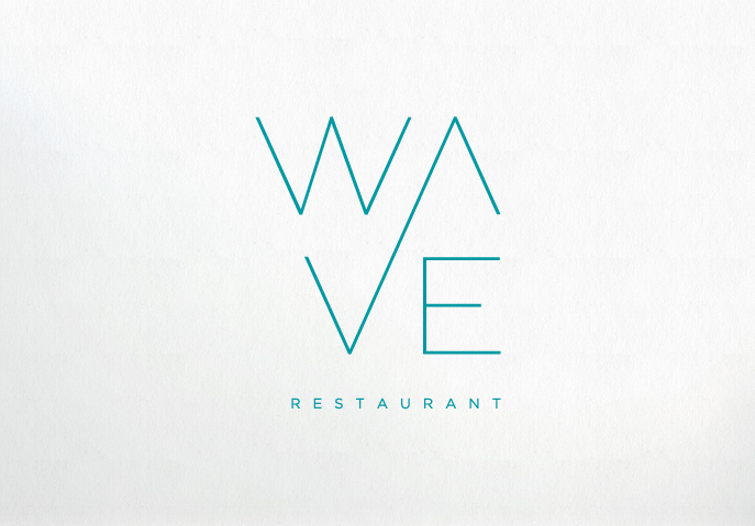Wave Restaurant Logo by Martin Ezman
