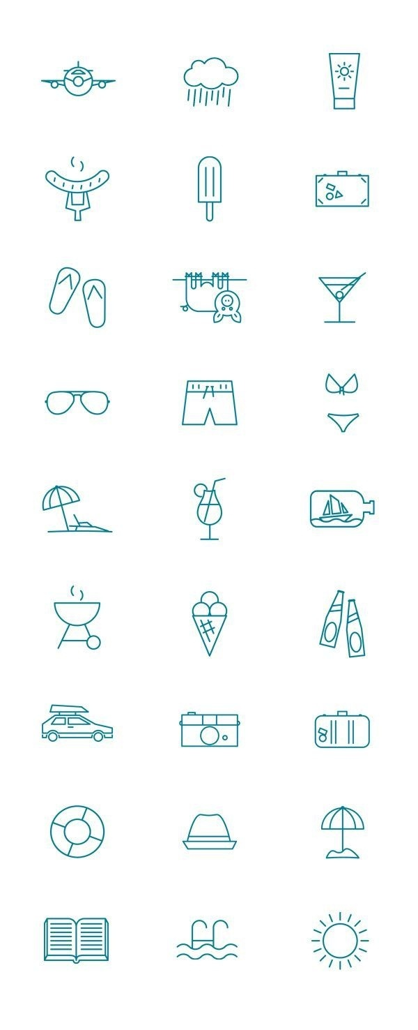 Summer pictogram by Kenneth Knudsen, via Behance #sign #icons #summer #pictogram