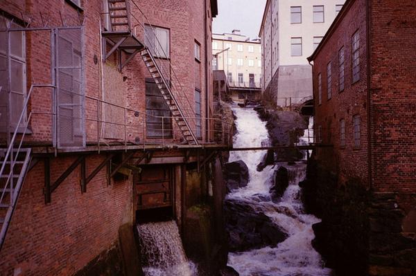 by geneviève bjargardóttir #city #waterfall #sweden