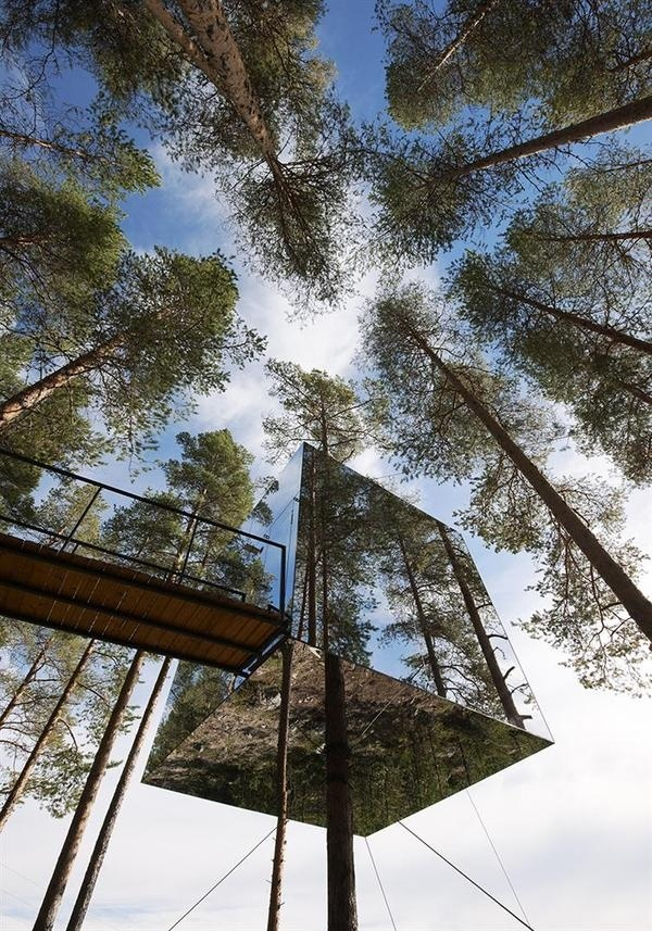 CJWHO ™ (Tree Hotel, Harads, Sweden by Tham & Videgård...) #sweden #design #wood #mirror #architecture #hotel #clever