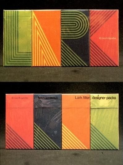 Lark Cigarette Packaging   AisleOne #packaging #cigarette #1960s #lark