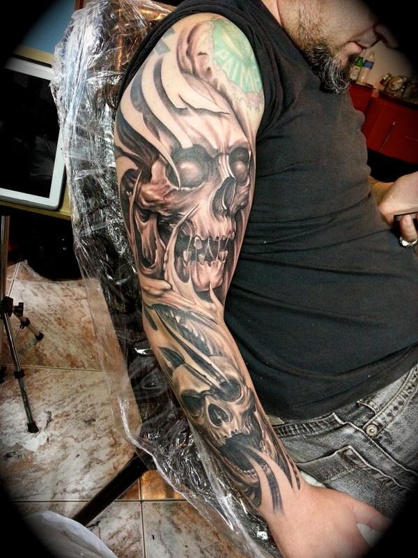 Tatuagens Douglas Martins | Dark Tattoo #ink #tattoo #skin #dark #skull