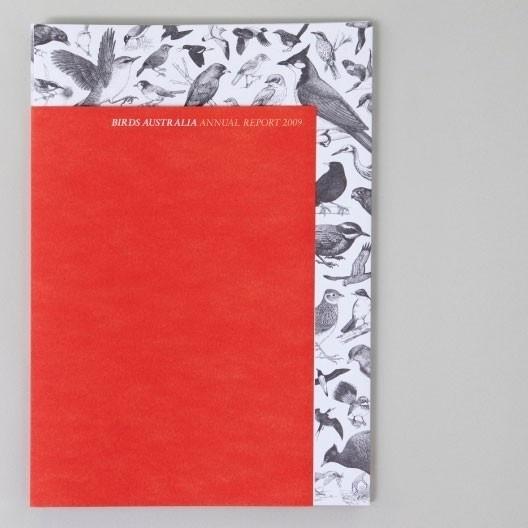 Birds Australia / PRINCIPLE DESIGN #binding #print #annual #cover #sheet #report #short