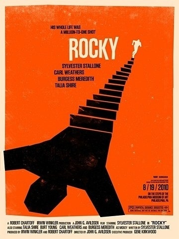 FFFFOUND! | OMG Posters! » Archive » Olly Moss' 2010 Rolling Roadshow Poster Series #design #graphic #poster #rocky #movies