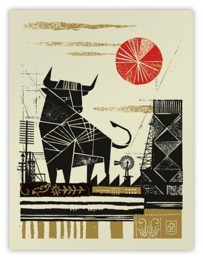 58759.680x1000x0.png (PNG Image, 611x788 pixels) #woodcut #screenprint #illustration #poster #bull