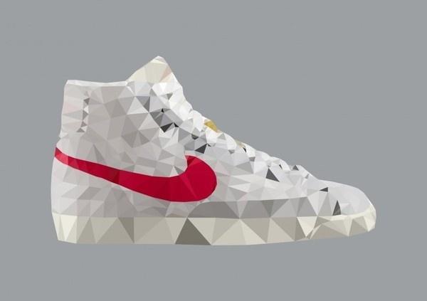 Shoe Icons #nike #illustration #blazer