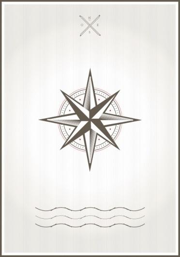 Compassrose #sea #design #poster