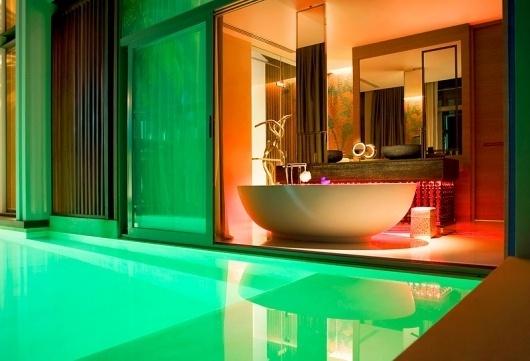 W-Retreat-Koh-Samui-designscene-net-05.jpg (JPEG Image, 800x546 pixels) #pool #tub #lighting