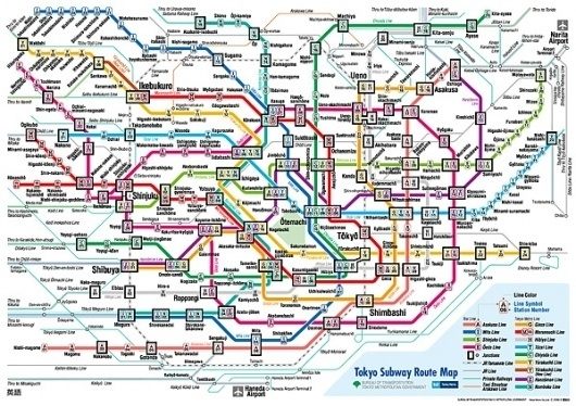 A Perfect Design? - Jamie Wieck - Design, Illustration & Creative Thinking #information #visualisation #design #subway #tokyo #data #maps