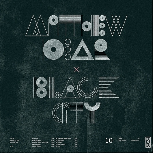 All sizes | 10.Matthew Dear - Black City | Flickr - Photo Sharing! #geometric #typography