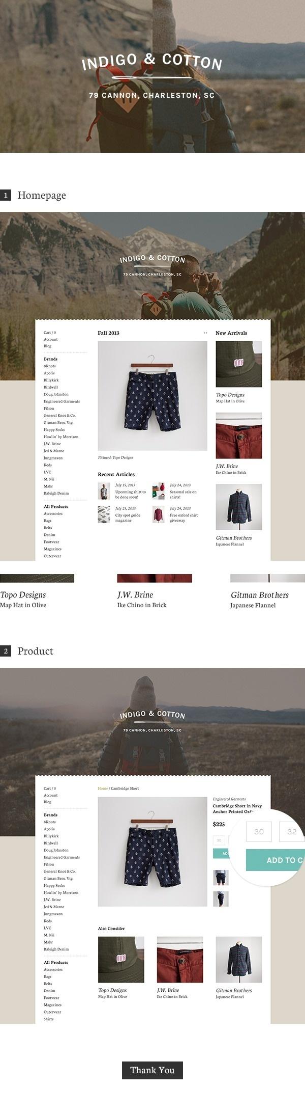Indigo & Cotton on Behance #ecommerce