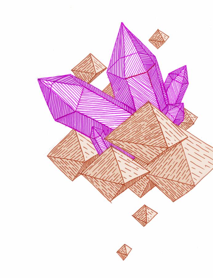 Gems... www.anditisgood.com #geode #ink #gems #jewels #markers #illustration #crystals #scifi #art #sketch