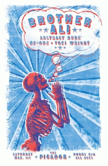 GigPosters.com - Brother Ali - Abstract Rude - Bk-one - Toki Wright #print #gig #poster