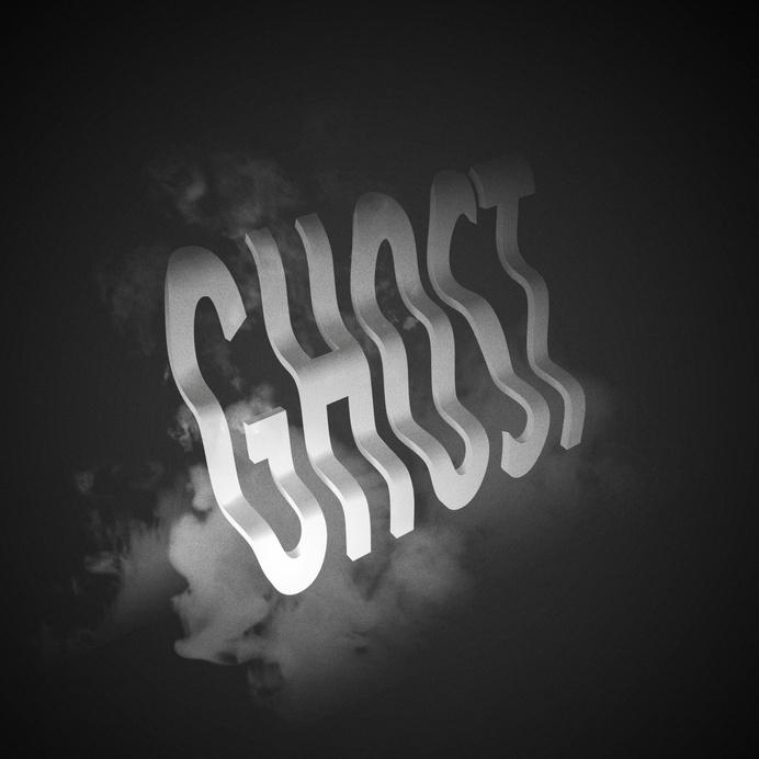 Ghost by JeanPierre Le Roux (jeanpierreleroux.com) #ghost #lettering #cgi #design #3d #typography