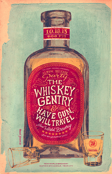 GigPosters.com Whiskey Gentry, The Have Gun, Will Travel #whiskey #gig #poster